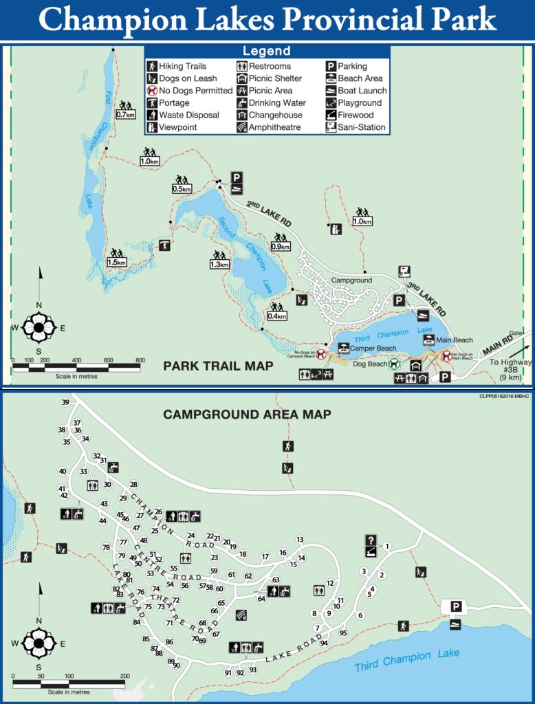 Champion Lakes Provincial Park Map